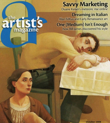 Artists Magazine Cover, October 2008 Issue